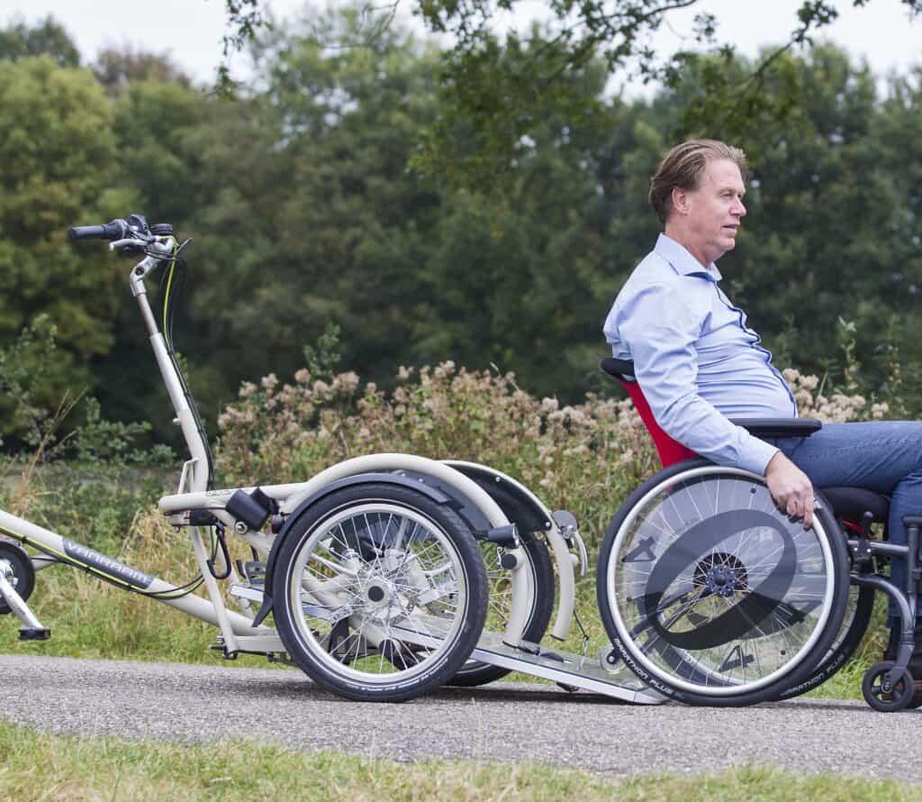 kantelbaar laadplateau rolstoelfiets