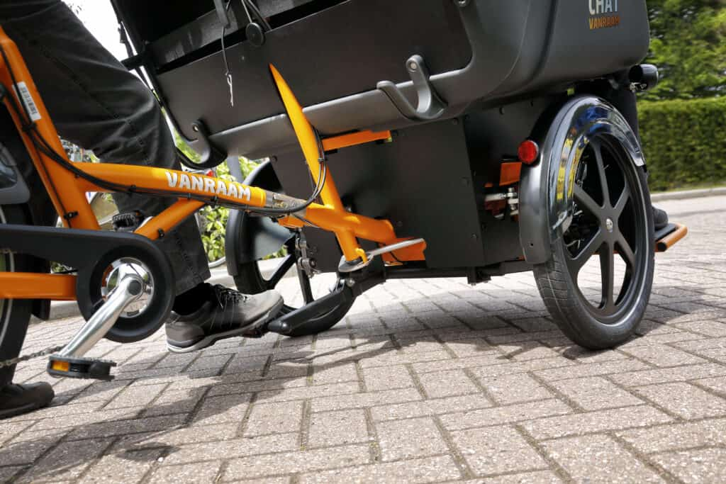 riksja transportfiets Chat voetenpedaal