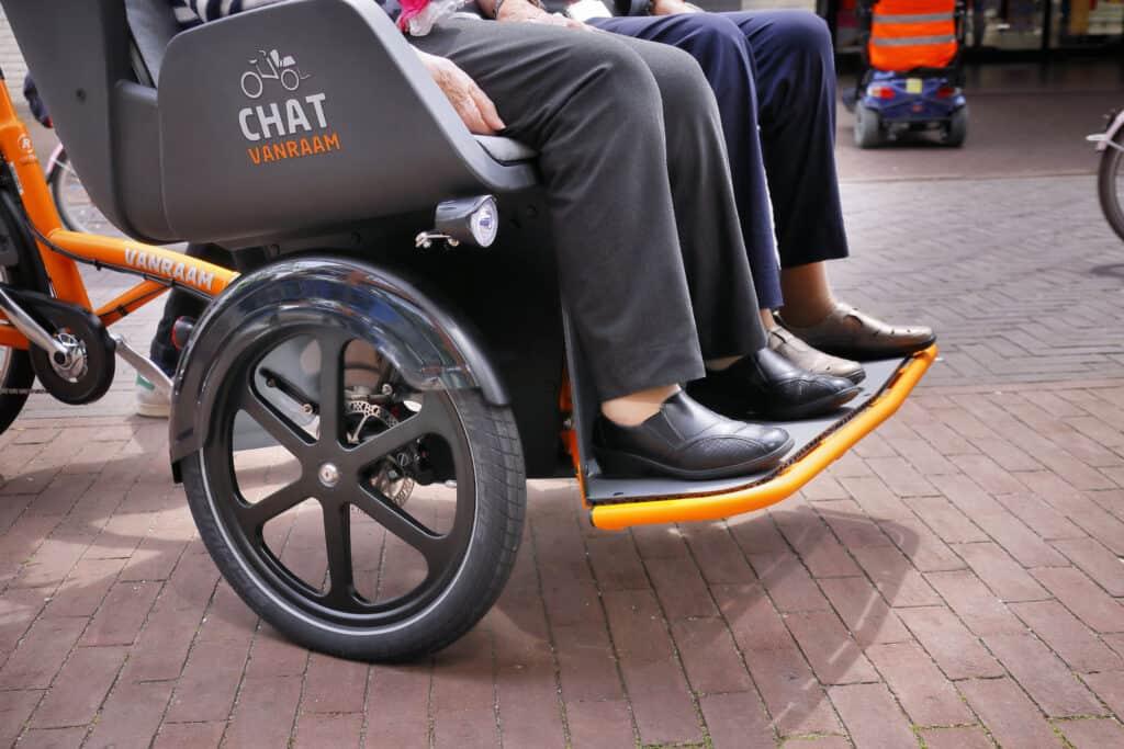 riksja transportfiets Chat voetenplaat